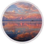 Clouds - Almost Heaven Round Beach Towel