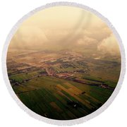 Clouds And Mist - Amsterdam Round Beach Towel