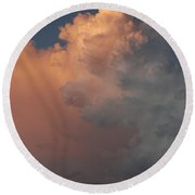 Clouds And More Clouds Round Beach Towel