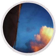 Clouds And Sails Round Beach Towel