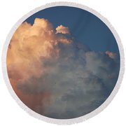 Clouds Are Always Greener Round Beach Towel
