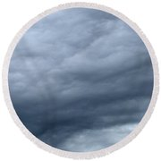 Clouds At Dusk Two  Round Beach Towel