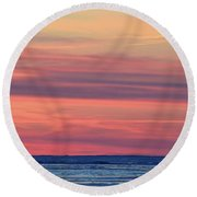 Clouds At Sunrise Two  Round Beach Towel
