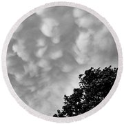 Clouds Before The Storm Round Beach Towel
