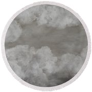 Clouds For Mary Beth Round Beach Towel