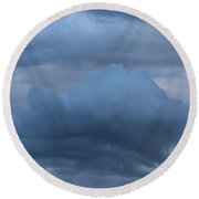 Clouds Four Round Beach Towel