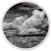 Clouds I I Round Beach Towel