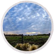 Clouds Illusions Round Beach Towel