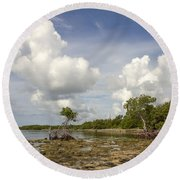Clouds In The Keys 2 Round Beach Towel
