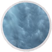 Clouds Like The Sea Round Beach Towel