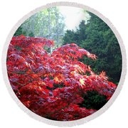 Clouds Of Leaves Round Beach Towel