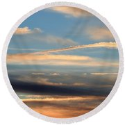 Clouds Of Natural Art Round Beach Towel