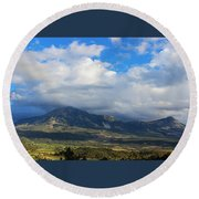 Clouds Of Spring Round Beach Towel