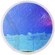 Clouds On The Ceiling Round Beach Towel