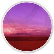 Clouds On The Horizon  Round Beach Towel