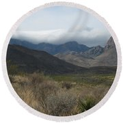 Clouds Over Big Bend Round Beach Towel