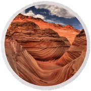 Clouds Over Coyote Buttes North Round Beach Towel