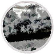 Clouds Over St Thomas At Dusk 1 Round Beach Towel