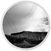 Clouds  Over The Mesa Round Beach Towel