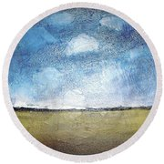 Flying Clouds Round Beach Towel