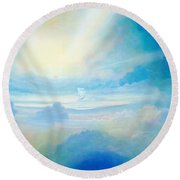 Cloud's Sea Round Beach Towel