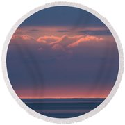 Clouds Talking To The Storm 3 Round Beach Towel