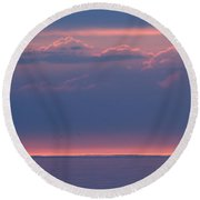 Clouds Talking To The Storm  Round Beach Towel