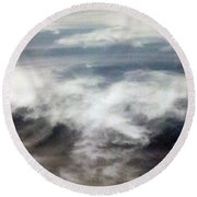 Clouds Tides Round Beach Towel