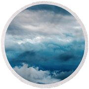 Clouds Two Round Beach Towel