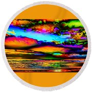 Clouds With Attitude Round Beach Towel
