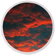 Cloudscape A1 Round Beach Towel
