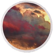 Cloudscape Sunset 46 Round Beach Towel by James BO  Insogna