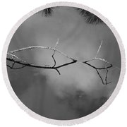 Cloudy Bridge Round Beach Towel