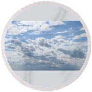 Cloudy Round Beach Towel