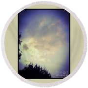 Cloudy Sky Before A Storm Round Beach Towel