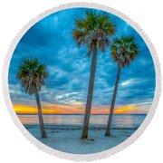 Cloudy Sunset -tampa, Florida Round Beach Towel