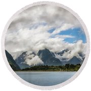 Cloudy With A Chance Of Beautiful Photo Round Beach Towel