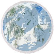 Cloudy With Whimsy Round Beach Towel