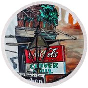 Clover Grill - New Orleans Round Beach Towel