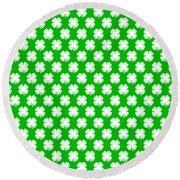 Clover Titled  - Pattern Round Beach Towel
