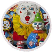Clown Toys Round Beach Towel by Garry Gay