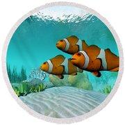 Clownfish Round Beach Towel