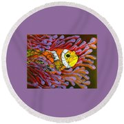 Clownfish I  Round Beach Towel