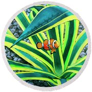 Clownfish Round Beach Towel