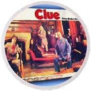 Clue Board Game Painting Round Beach Towel