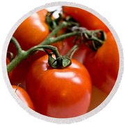 Cluster Of Tomatoes Round Beach Towel