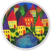 Clusters Round Beach Towel
