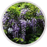 Clusters Of Wisteria Round Beach Towel