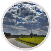 Clyde Fitzgerald Road Scenery Round Beach Towel