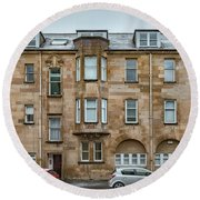 Clydebank Former Fire Station Building Round Beach Towel